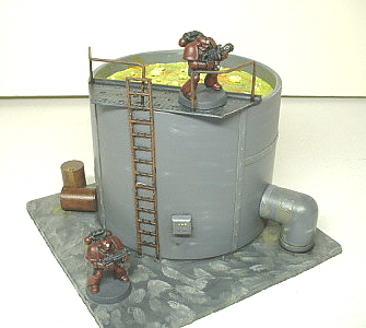 Toxic-storage-vat-terrain-28mm-custom-built-painted-for-futuristic-science-fiction-war-games-like-Warhammer-40K.